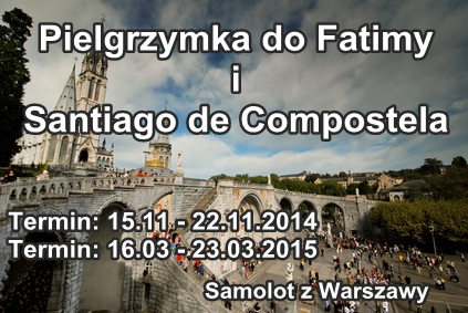 Fatima i Santiago de Compostela pielgrzymki